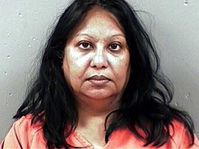 This Aug. 12, 2011 file photograph taken in Canton, Miss., and released by the Madison County Sheriff's Department shows Dr. Meera Sachdeva, Sachdeva a doctor has been sentenced to 20 years in prison and ordered to repay nearly $8.2 million for fraud at a Mississippi cancer center.