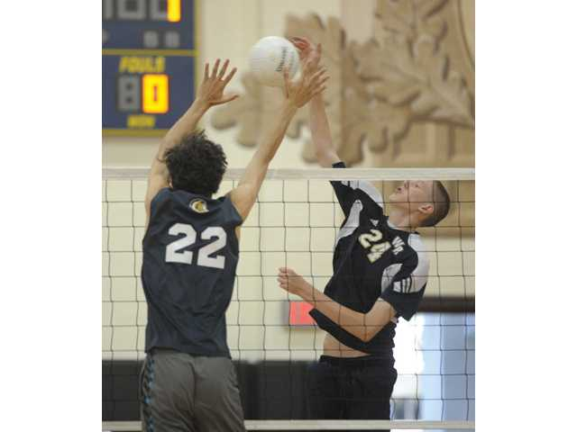 West Ranch senior Tanner Skabelund, right, will play volleyball for Brigham Young University next season.