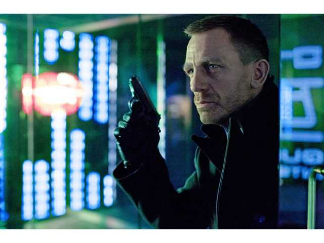 "This undated file photo released by Columbia Pictures shows Daniel Craig as James Bond in the action adventure film, ""Skyfall."""