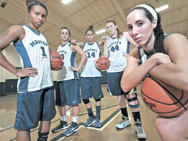 TMC women's basketball players, from left, Whitney Best, Zoe Scott, Lena Rivera, Theresa Brown and Jacquelyn Marshal provide a solid foundation for a promising 2012-13 team which is ranked No. 14 in NAIA Division I coaches' poll.