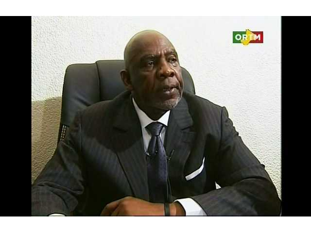 Mali's Prime Minister Cheikh Modibo Diarra resigns during a broadcast on state television from Bamako, Mali on Tuesday.