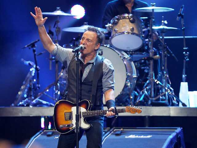 This image released by Starpix shows Bruce Springsteen performing at the 12-12-12 The Concert for Sandy Relief at Madison Square Garden in New York on Wednesday