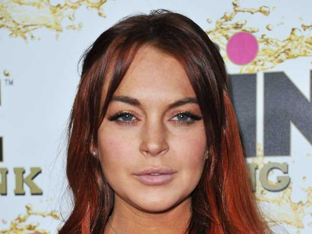 Lindsay Lohan on Oct. 12 at the Beverly Wilshire hotel in Beverly Hills, Calif. Lohan's probation was revoked Wednesday.
