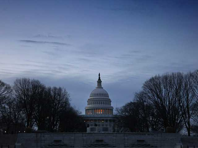 The U.S. Capitol in Washington is seen at dawn Wednesday.