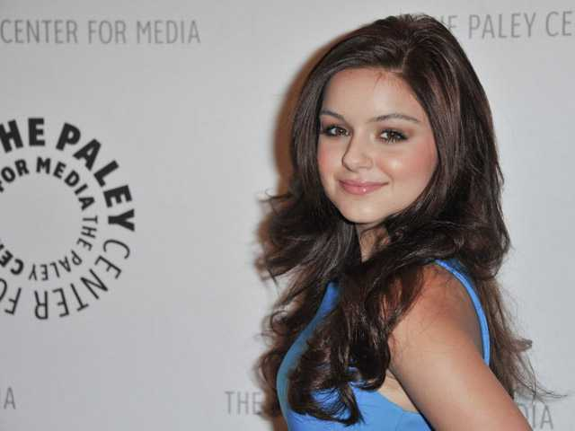 "In this Sept. 24 photo, Ariel Winter attends the world premiere of ""Batman: The Dark Knight Returns"" at The Paley Center for Media, in Beverly Hills."