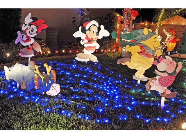 The Ferguson family home in Valencia offered up delightful Disney images to capture fourth place.