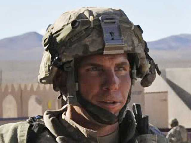 In this 2011 photo , Staff Sgt. Robert Bales participates in an exercise at the National Training Center at Fort Irwin.