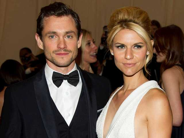 FILE - In this May 7, 2012 file photo, Hugh Dancy and Claire Danes arrive at the Metropolitan Museum of Art May 2012. The the couple welcomed a baby boy named Cyrus Michael Christopher on Monday, Dec. 17.