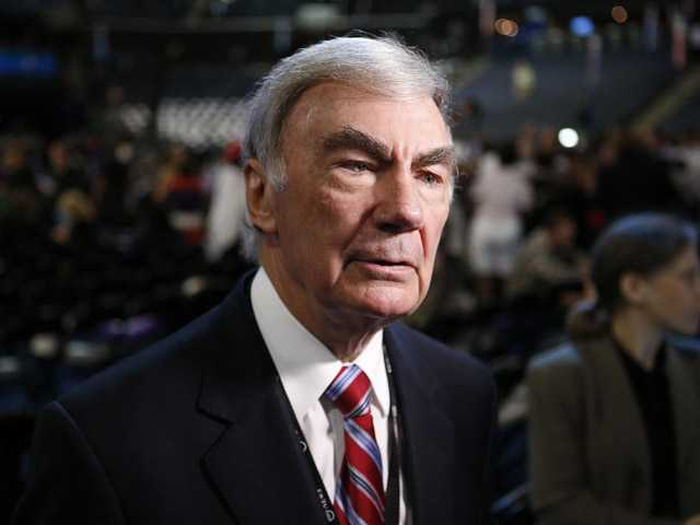 In this Sept. 5 photo, Sam Donaldson is seen on the floor at the Democratic National Convention in Charlotte, N.C.