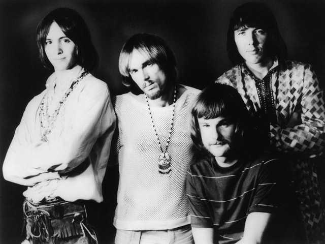 This April 9, 1969 photo shows members of Iron Butterfly, from left, Erik Brann, Ron Bushy, Lee Dorman, and Doug Ingle.