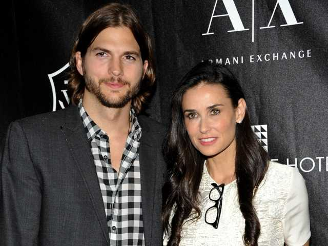 Actors Ashton Kutcher and Demi Moore in New York on June 9, 2011. On Friday, Dec. 21, Kutcher filed court papers Friday to end his seven-year marriage to actress Demi Moore.