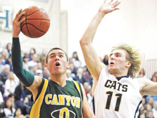 Canyon boys basketball's Coley Apsay.