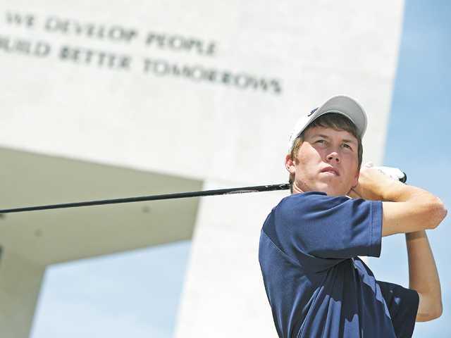 Saugus golf's Zack Leonard.