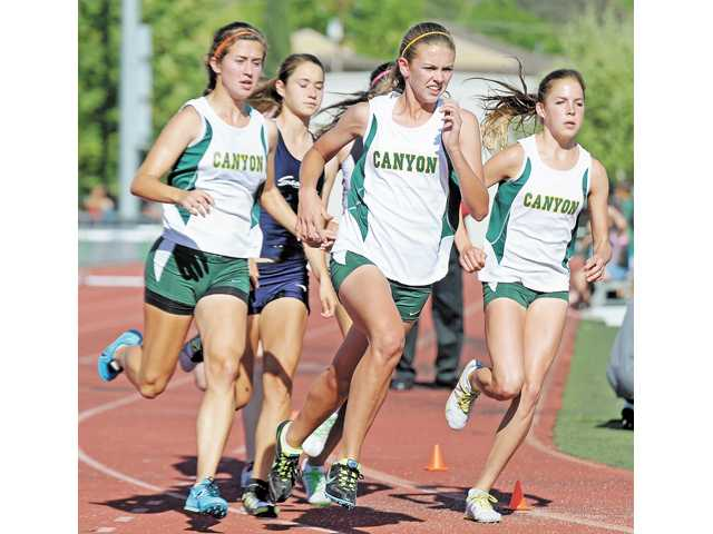Members of the Canyon girls track team.