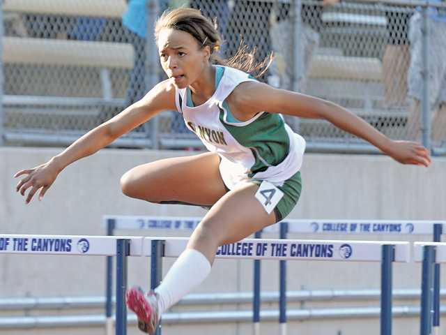 Canyon girls track's Taylor Thomas.