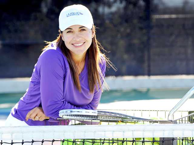 Local tennis pro Dina McBride, 41, won the United States Tennis Association 40s Hard Court National Championship tournament earlier this month.