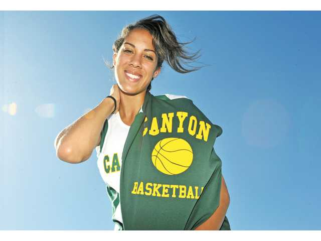 Canyon basketball/track and field athlete Tiffini Stone.