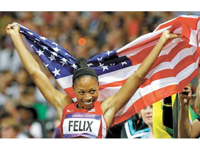 Santa Clarita Valley resident and Olympic gold medalist Allyson Felix.