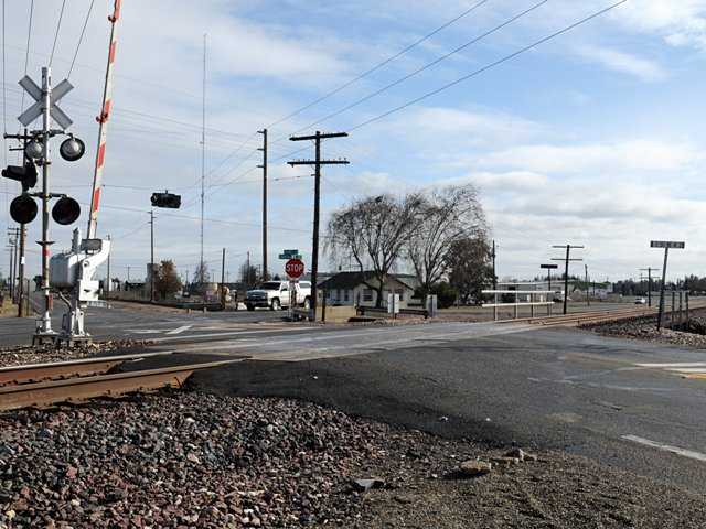 Antjuan Miguel Colvin,21, took his life at this crossing in Hughson, Calif. on Christmas evening by driving his car into the path of an oncoming train. He had posted a suicide note on Facebook.