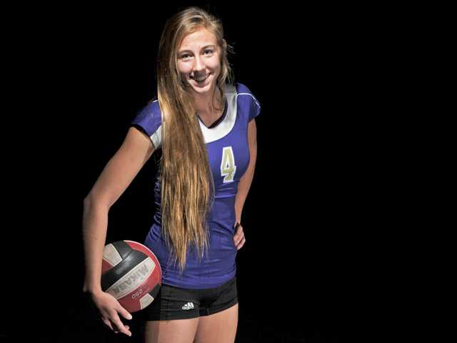 Delaney Knudsen was an offensive and defensive threat for the league champion Vikings in 2012. Her skills led her to become the first SCV athlete to receive a beach volleyball scholarship.