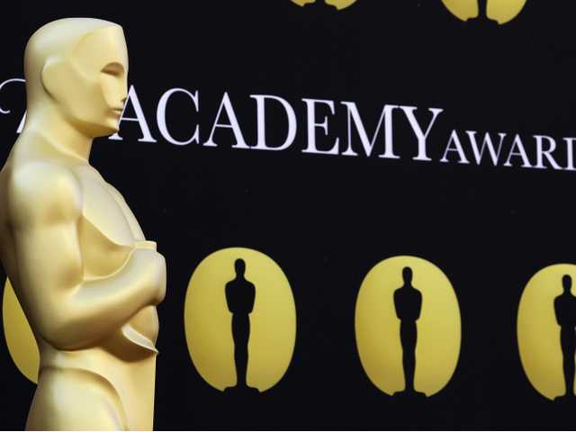 An Oscar statue stands on the red carpet outside the Kodak Theatre as preparations continue for the 82nd Academy Awards in Los Angeles.