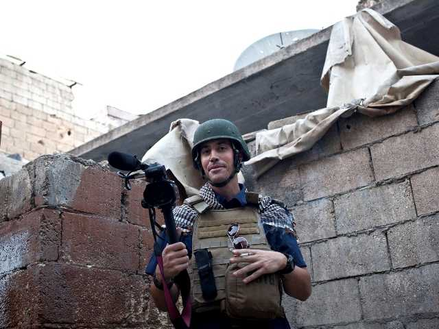 This photo posted on the website freejamesfoley.org shows journalist James Foley in Aleppo, Syria, in November, 2012. The American journalist went missing in Syria.