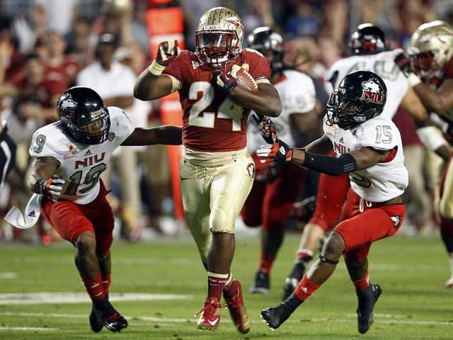 College football: No. 13 FSU beats No. 16 NIU 31-10 in Orange Bowl