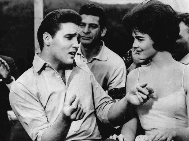 "Elvis Presley, left, appears in a scene from the movie, ""Kid Galahad."""