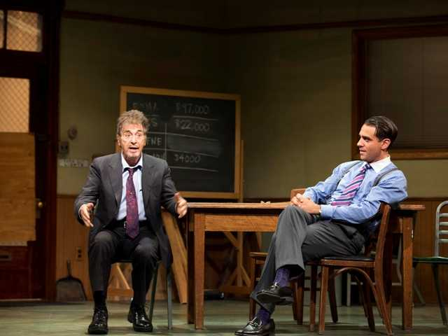 "Al Pacino in the play ""Glengarry Glen Ross"" Dec. 19. Pacino says he had never met famed record producer Phil Spector before portraying him in an HBO movie — only to find he already had."