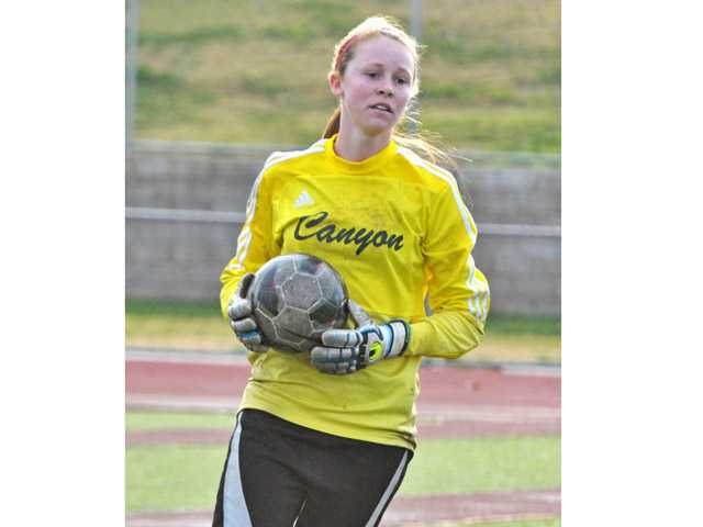 Canyon goalkeeper Meghan Kennedy, in her second season, is one of the best keepers in the league.