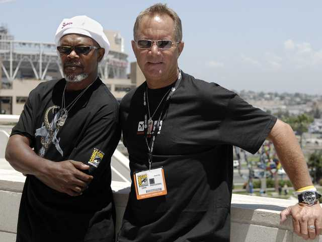In this July 21, 2006 file photo, actor Samuel L. Jackson, left, poses outside with director David R. Ellis at Comic-Con International in San Diego.