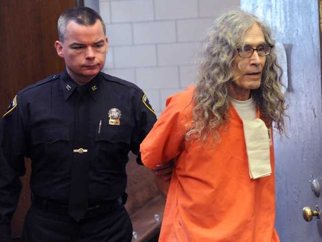 Convicted serial killer Rodney Alcala appears in court in New York, Monday. Already sentenced to death in California, Alcala has received a prison sentence in N.Y. for killing two other women.