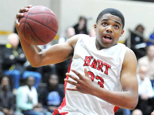 Junior guard Lewis Stallworth has helped Hart to a 14-0 start this season.