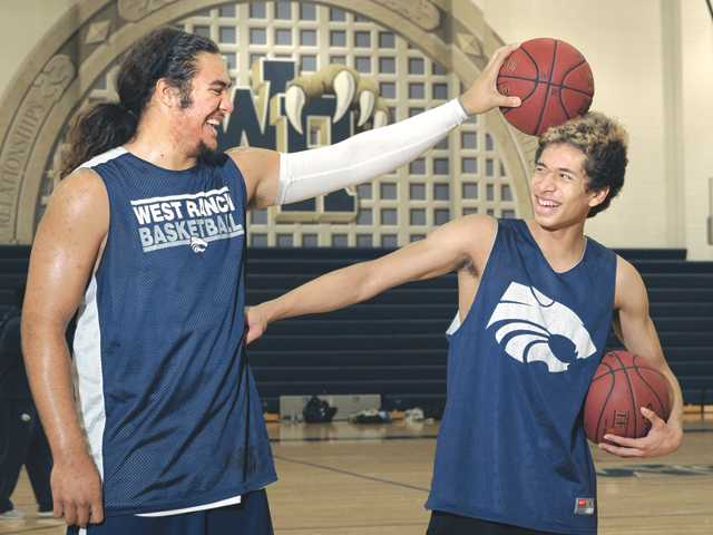 West Ranch's Ako Kaluna and Kevin Harris are combining to average just over 33 points per game on the 2012-13 season.
