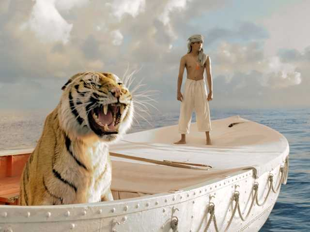 "Suraj Sharma in a scene from ""Life of Pi,"" directed by Ang Lee. The film was nominated for an Academy Award for best picture on Thursday."