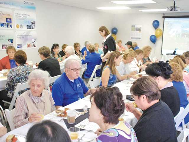 Henry Mayo Newhall Memorial Hospital Auxiliary volunteers recently enjoyed a special 50th anniversary celebration. The Auxiliary was formed in 1962, before the hospital opened.