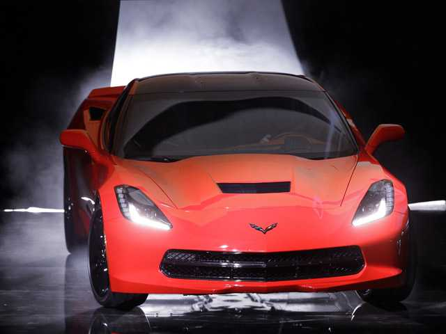 The 2014 Chevrolet Corvette Stingray debuts in Detroit, Sunday.