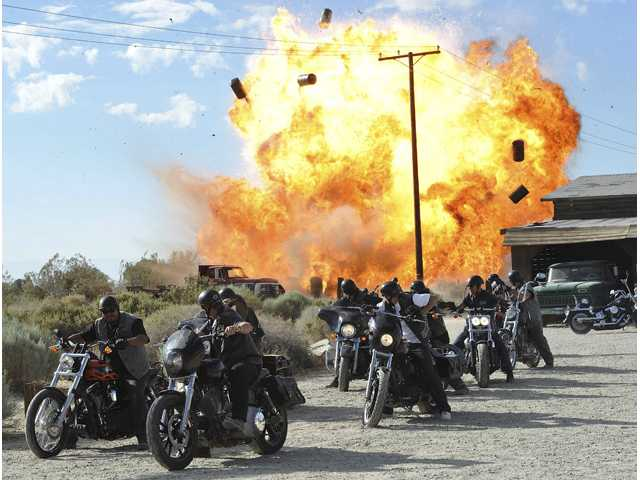 "In this file image released by FX, a scene is shown from the FX original series, ""Sons of Anarchy."""