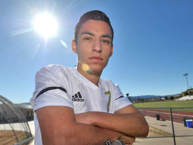 Valencia senior Jesus Fernandez started playing soccer just five years ago, but his natural abilities allow him to quickly rise to a top-notch level of play.