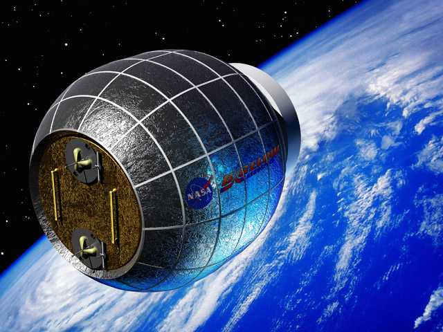 This artist's rendering provided by Bigelow Aerospace shows a Bigelow inflatable space station.
