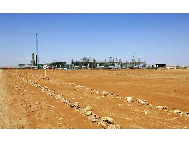 The Ain Amenas gas field in Algeria, where Islamist militants raided and took hostages Wednesday.