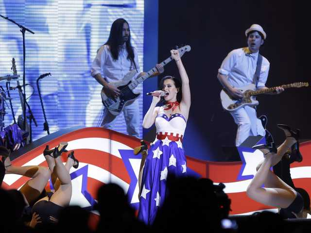 "Katy Perry performs during the Kids' Inaugural: Our Children. Our Future."" event in Washington, Saturday, as part of the 57th Inauguration weekend of events. (AP)"