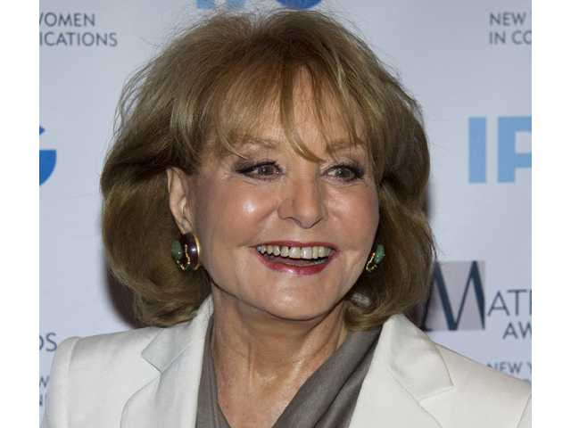 In this 2012 photo, veteran ABC newswoman Barbara Walters arrives to the Matrix Awards in New York.
