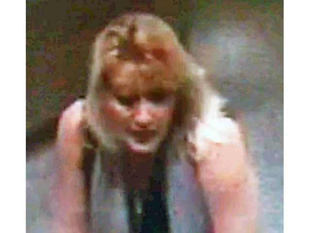 Sheriff's detectives are still looking for a blond woman who steals wallets from women's purses and uses their credit cards to obtain cash and valuables. Photo provided by Los Angeles County Sheriff's Department