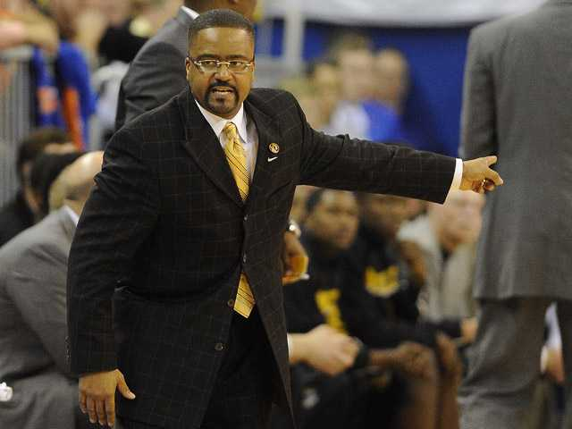 Missouri coach Frank Haith shouts instructions to his team in Gainesville, Fla., on Saturday.