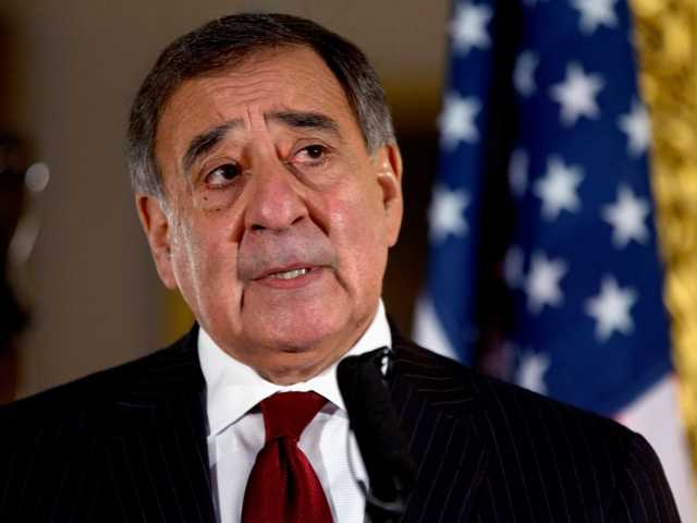 This Jan. 19, 2013 file photo shows Defense Secretary Leon Panetta speaking during a news conference in London. Panetta has removed US military ban on women in combat, opening thousands of front line positions.