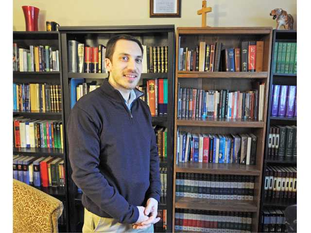 Italian seminarian Raffaele Spitale in his Newhall home. Signal photo by Jonathan Pobre
