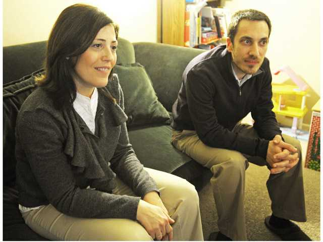 Manuela and Raffaele Spitale are interviewed in their Newhall home on Jan. 10. Signal photo by Jonathan Pobre