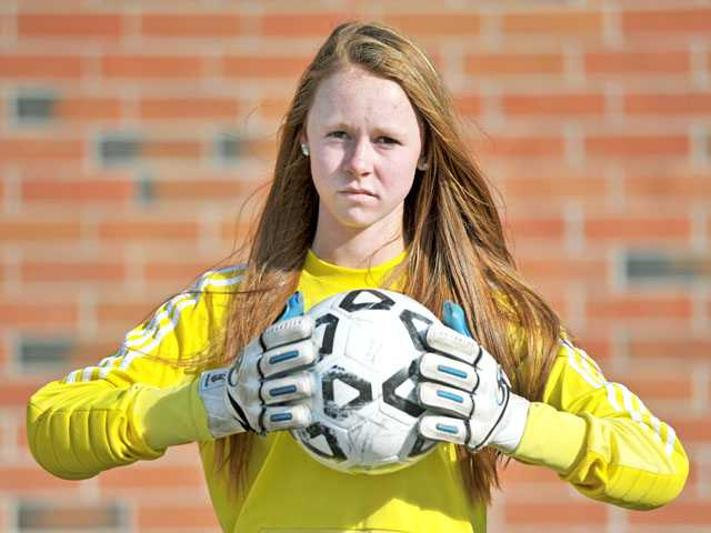 Canyon sophomore goalkeeper Meghan Kennedy is a big reason why Canyon has elevated from underdog to contender in recent weeks.