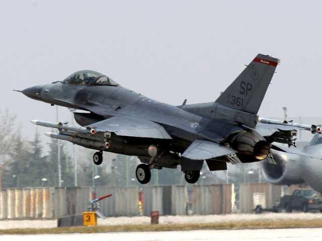 US fighter jet missing on training mission
